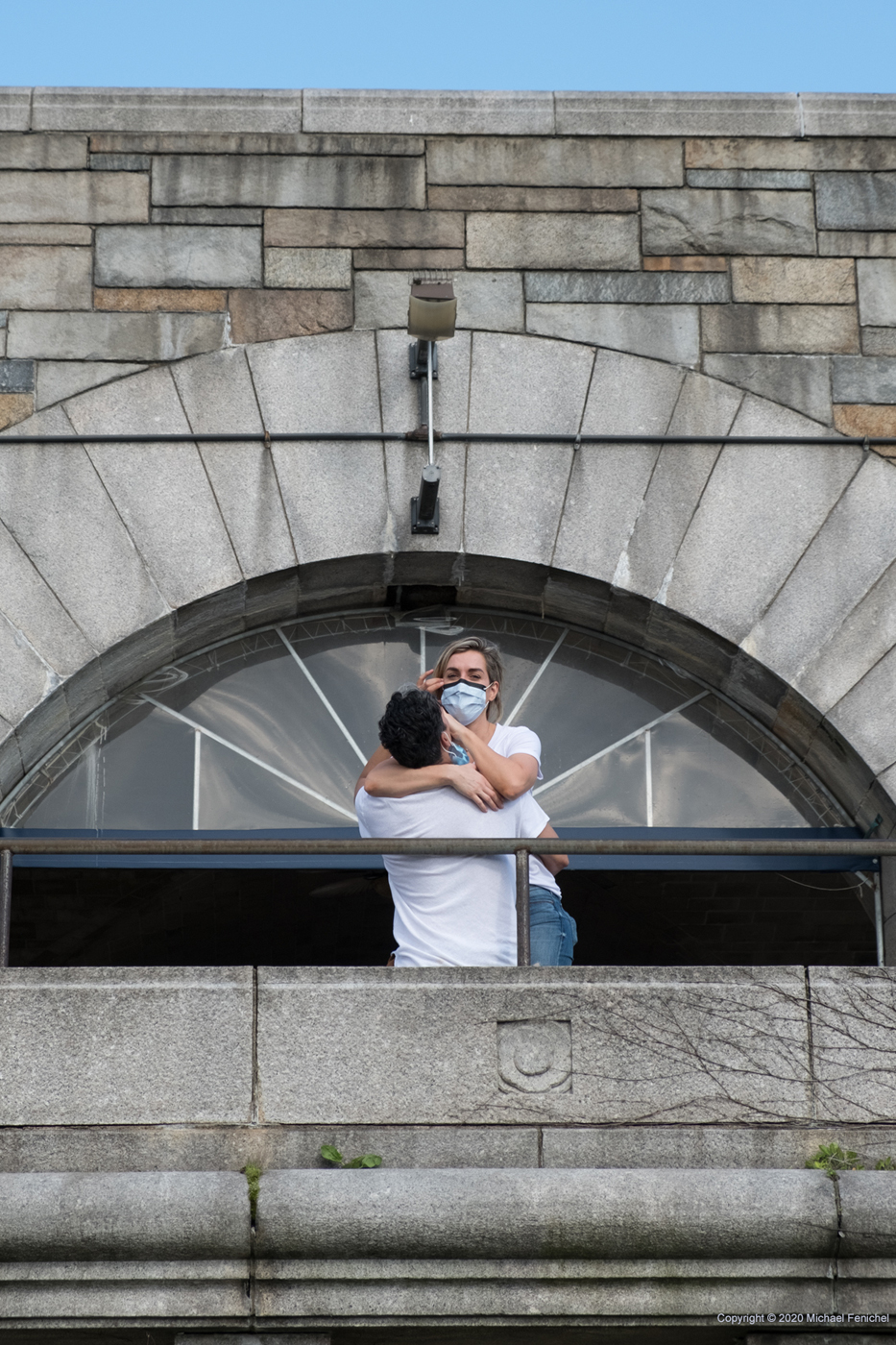 [Masked Couple at 79th St. Rotunda]