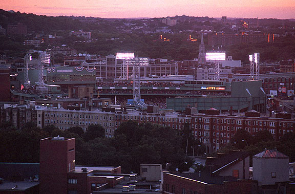 [Fenway Stadium at Dusk]