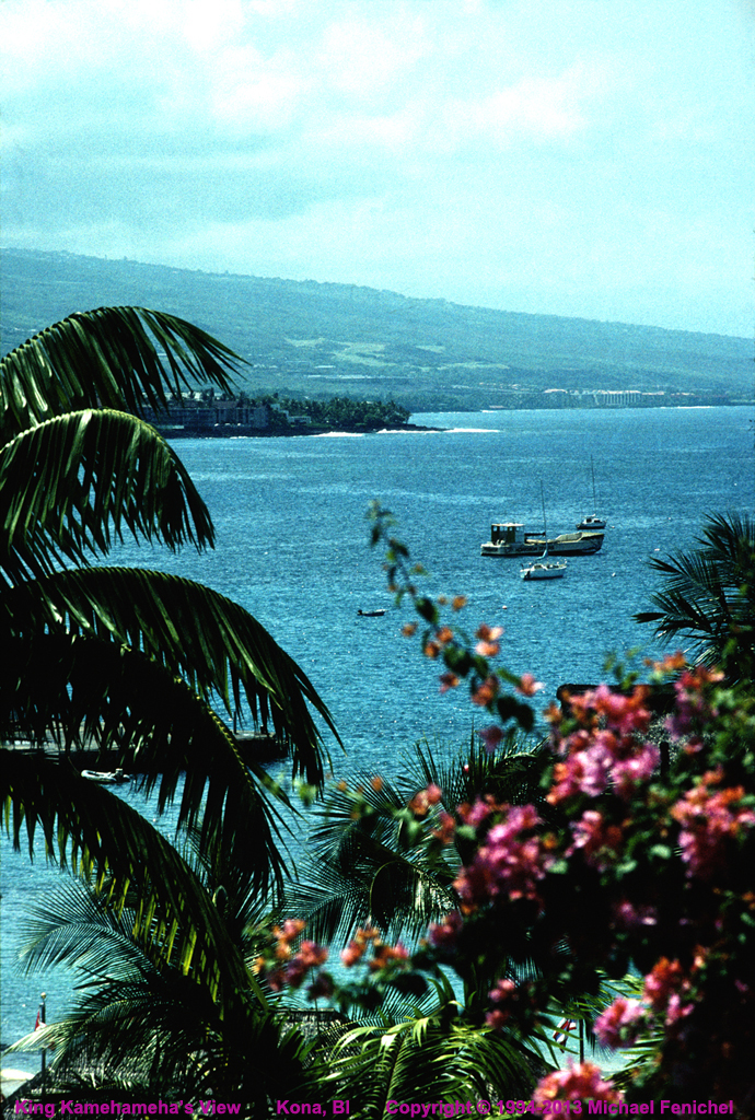 [View of Kona from Kamehameha's Palace]