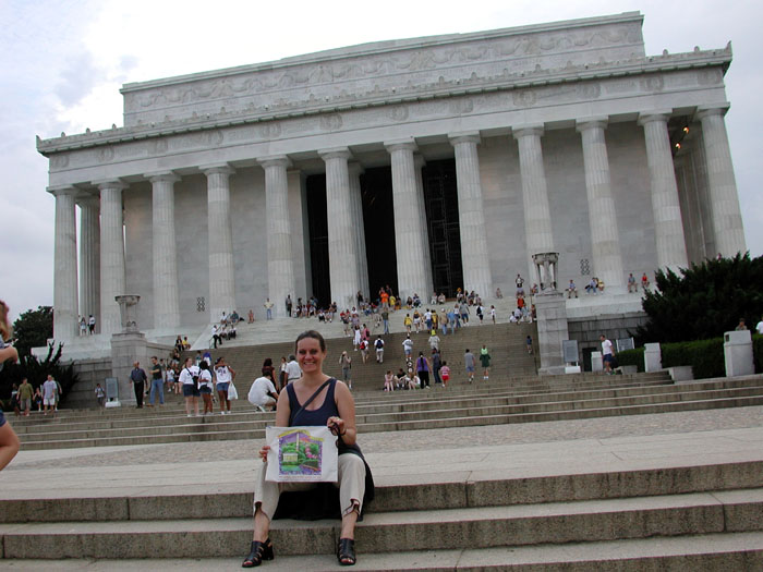 [Naomi on the steps of Lincoln Memorial]