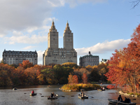 [Central Park Pond in Autumn]