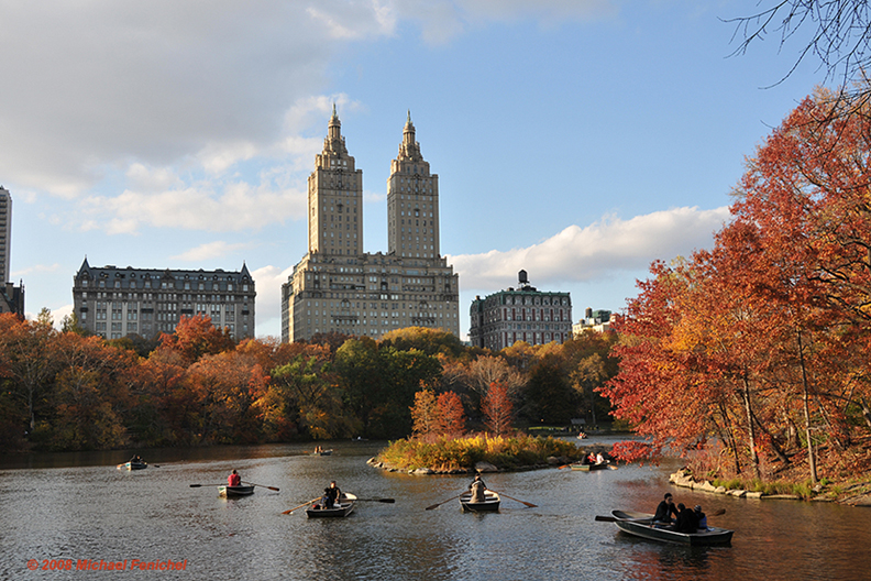 [Central Park Lake in Autumn]