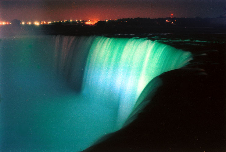[Niagara Falls in Blue]