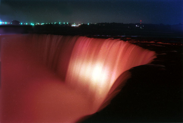 [Niagara Falls in Red]