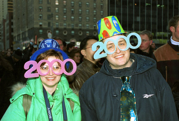 2000 New Years Glasses