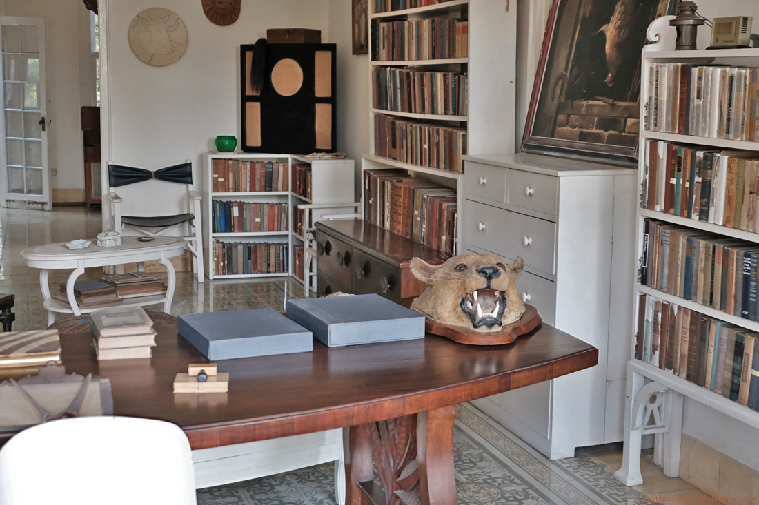 Hemingway's Library - with Picasso Plate