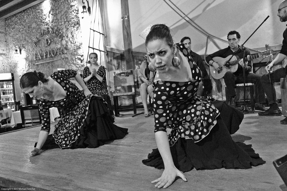 Flamenco Dancers - Black and White