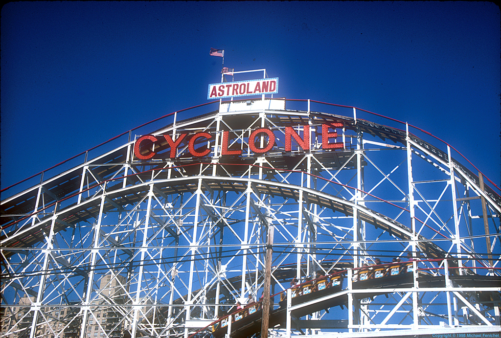 [The Cyclone-Coney Island-Click on photo to see digital 2008 images of Astroland's last days.]