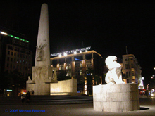 [Dam Monument at Night]