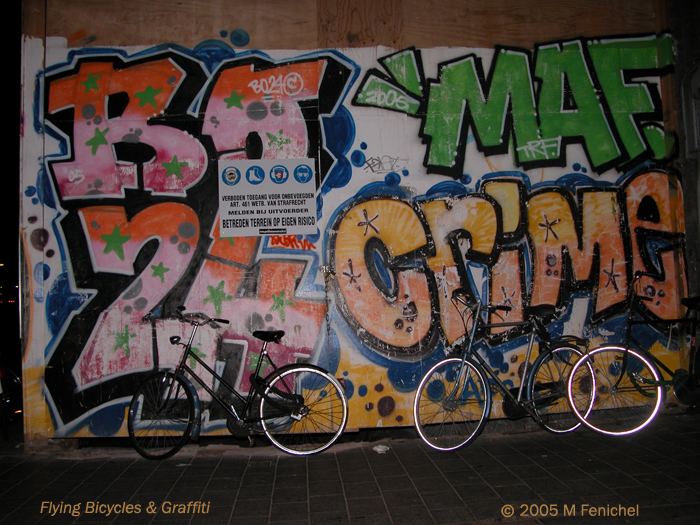 [Flying Bicycles and Graffiti]