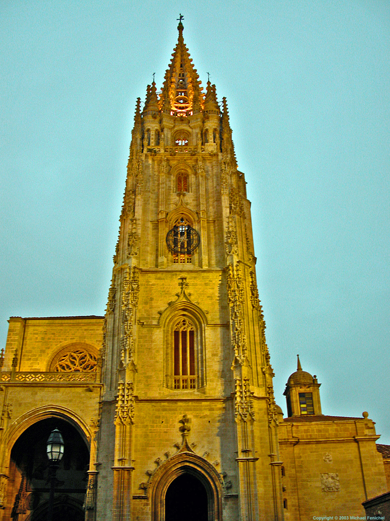 [Oveido Cathedral in Golden Light]