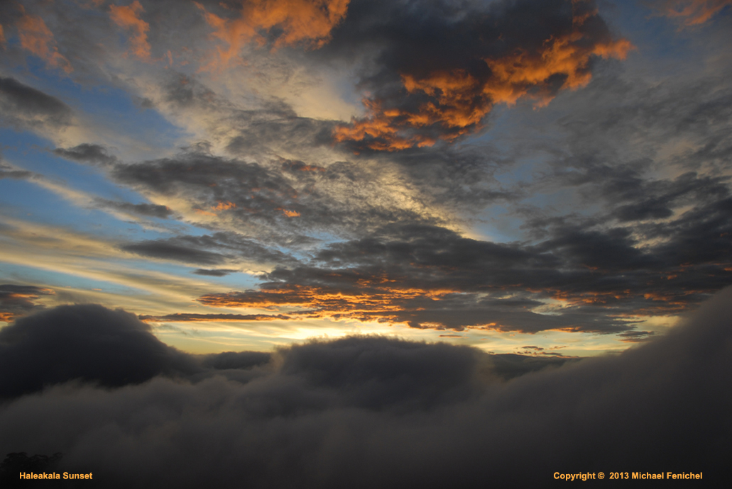 [Sunset on Mt. Haleakala]