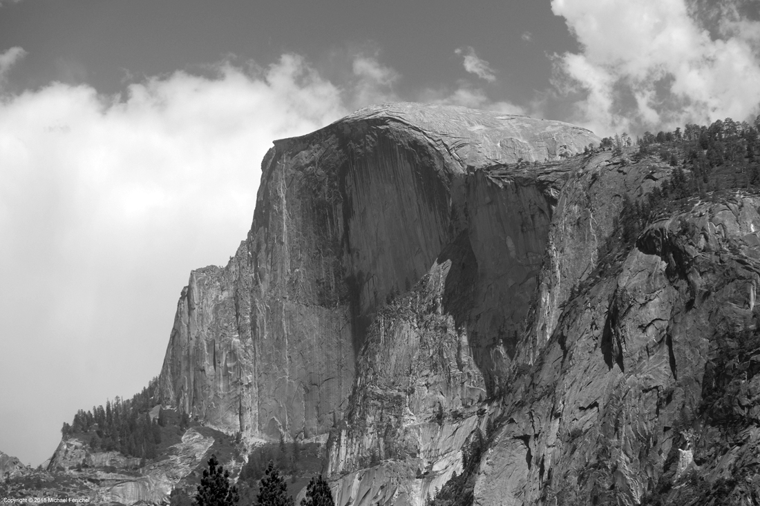 [Half Dome - Black and White]