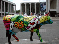 [Lincoln Center Cow]