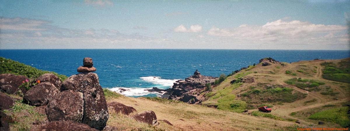 [Maui Panorama: Sea and lava gods]