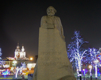 [Karl Marx in Revolution Square]