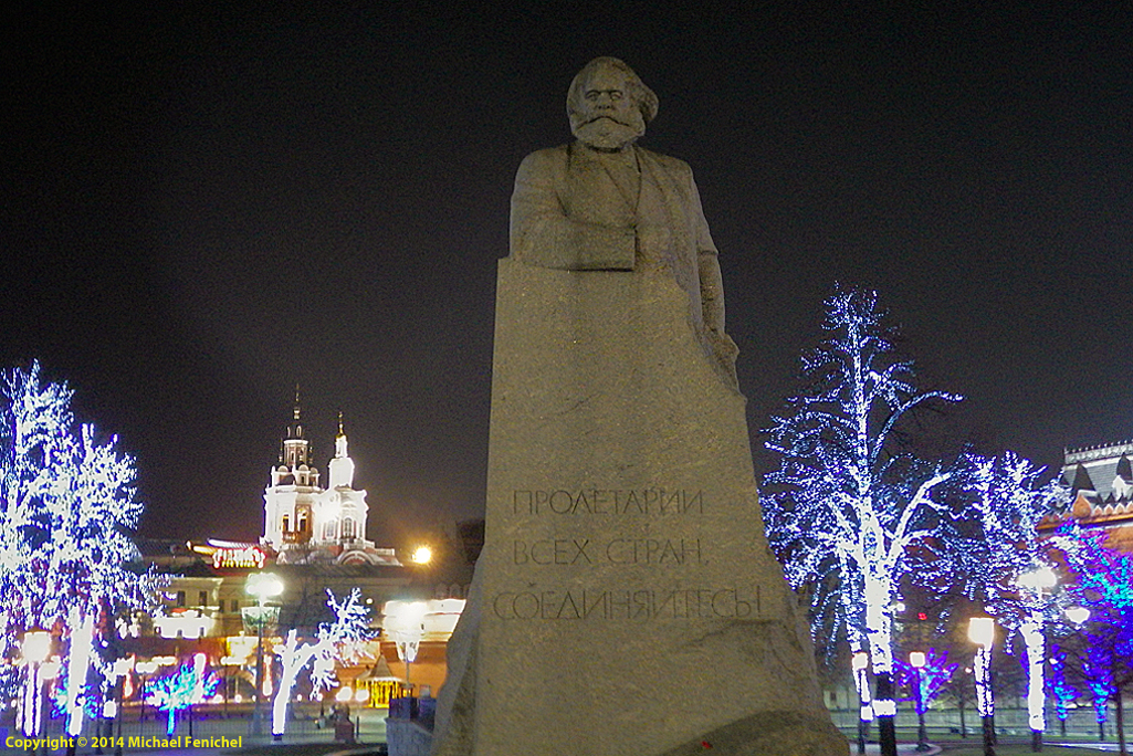 [Karl Marx in Revolution Square - Night]