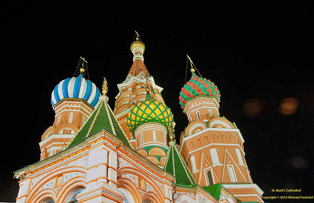 [Architecture of St. Basil's Cathedral - Nite Closeup]