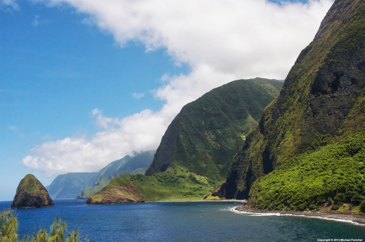 [Kalaupapa Pali and Ocean]