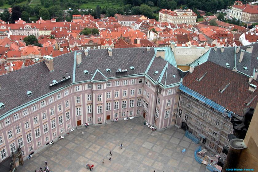 [Courtyard within Prague Castle]