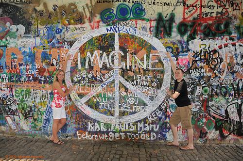 Lennon Wall - Prague - Praha