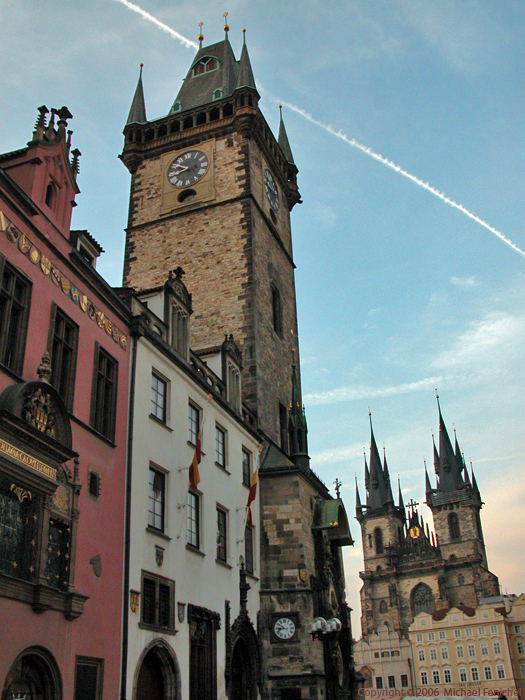[Approaching Prague's Old Town Square]