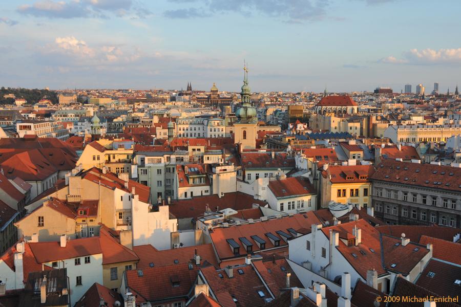 [Prague Roofscape at Dusk]