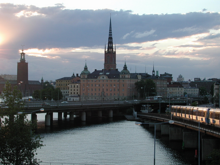 [Sunset over Gamla Stan]