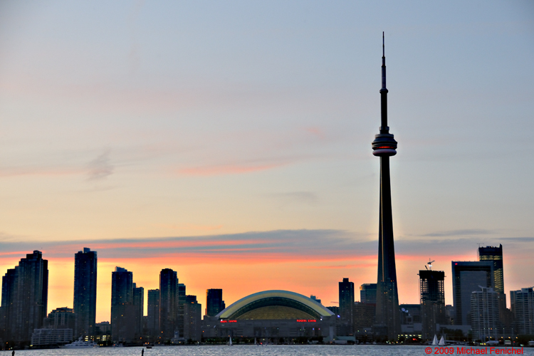 [Toronto Skyline at Dusk]