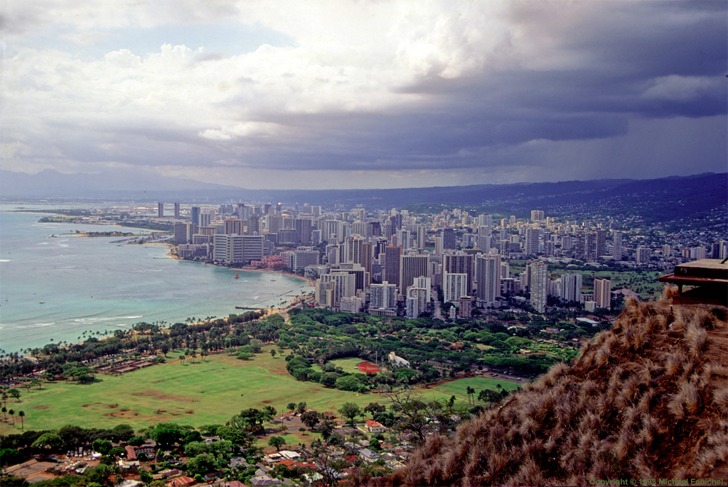 [Waikiki Beach from Atop Diamond Head]